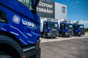 Újabb 6 környezettudatos Scania-járművel korszerűsödött a WSZL ALDI-flottája